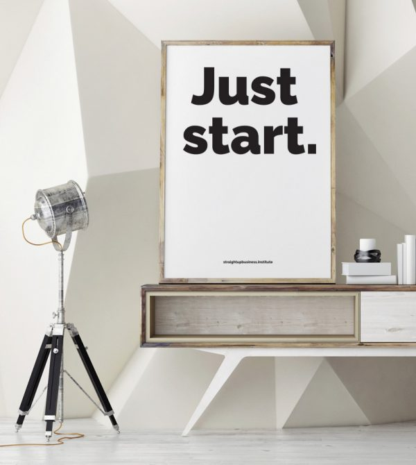 Just start poster